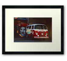 Hippie Red Bus Framed Print