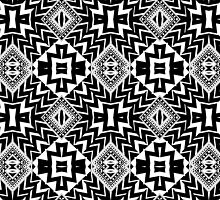 Black and White Tribal Patten | Leyana S5 by webgrrl