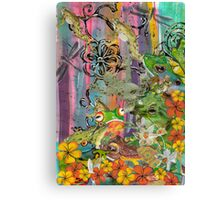 Frog Party Canvas Print