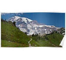 Mt. Rainier from the Alta Vista Trail, Paradise Poster