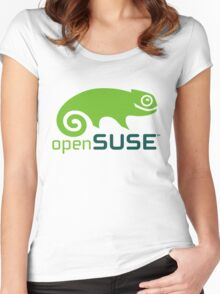 openSUSE Women's Fitted Scoop T-Shirt