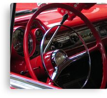 Symphony in Red vintage car Canvas Print