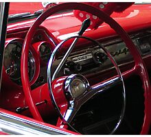 Symphony in Red vintage car Photographic Print