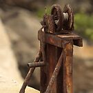 Out of Service! - A Weathered Rusty Pulley  by Buckwhite