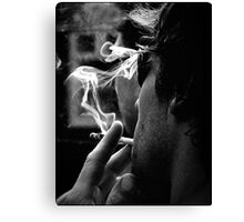 smoke (mono) Canvas Print