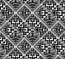 Black White Pattern Leyana S3 by webgrrl