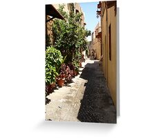 Rhodes: The Old Town Greeting Card