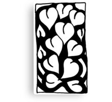 BW Full Hearts Canvas Print