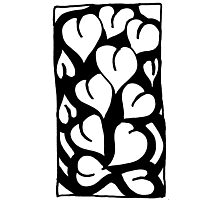 BW Full Hearts Photographic Print