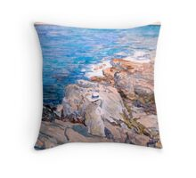 Study of Childe Hassam's South Ledges Appledore Throw Pillow