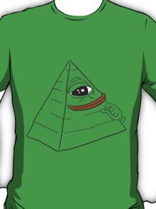 Pepe the smug frog - Pyramid edition T-Shirt