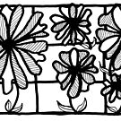 BW Flowers in Glass by Deanna Roberts Think in Pictures