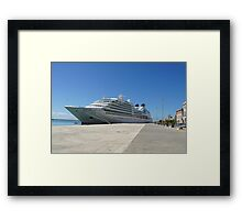 Seabourn Quest Framed Print