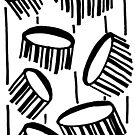 BW Drum Fronds by Deanna Roberts Think in Pictures