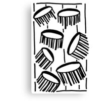 BW Drum Fronds Canvas Print