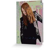 Graffiti Girl Greeting Card