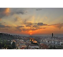 Florence Sunset Photographic Print