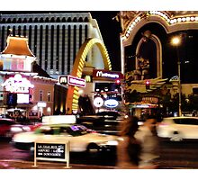 MickeyDee's on the Strip! Photographic Print