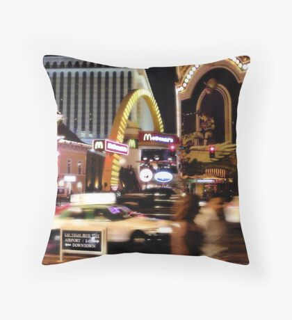 MickeyDee's on the Strip! Throw Pillow
