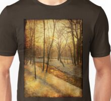 Winter on the Olza River Unisex T-Shirt