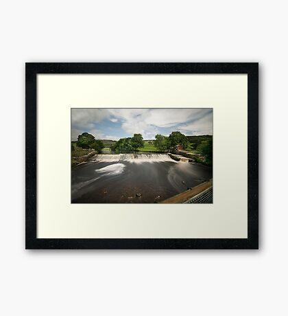 Langcliffe Weir Framed Print
