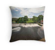 Langcliffe Weir Throw Pillow