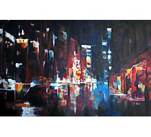 New York 2009. Abstract Skyline Painting Photographic Print
