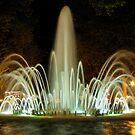 Fountain at night by viaterra-photos