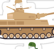 Battle Tanks Sticker