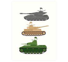 Battle Tanks Art Print