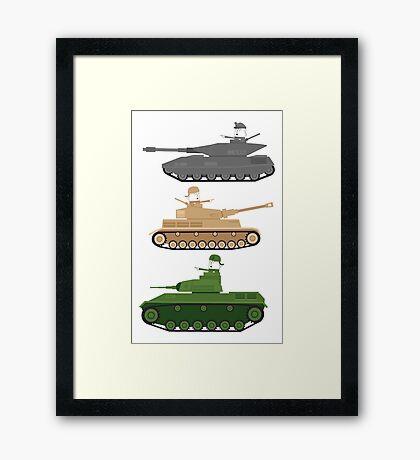 Battle Tanks Framed Print