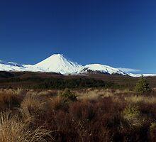 Mt. Tongariro, Mt. Ngauruhoe & Mt. Ruapehu by Steven Weeks