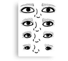 BW 4 Eyes Canvas Print