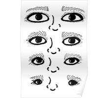 BW 4 Eyes Poster