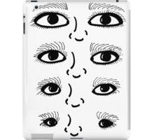 BW 4 Eyes iPad Case/Skin