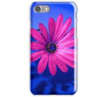 Flower On Blue #2 iPhone Case/Skin