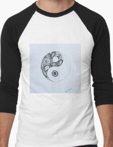 Patterned Yin Yang Men's Baseball ¾ T-Shirt