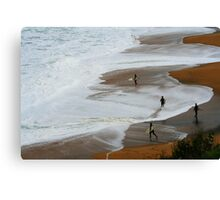 waiting for the paddle out Canvas Print