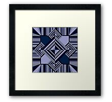 Abstract geometric pattern Framed Print