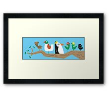 Birds in a Tree Framed Print