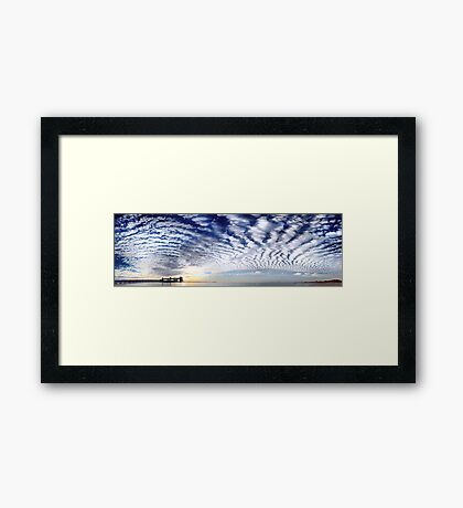 Kwinana Sky (Multi Row Panorama!)   Framed Print
