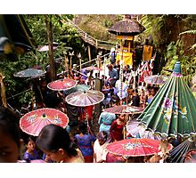 Balinese Umbrellas, Campuan, Bali Photographic Print