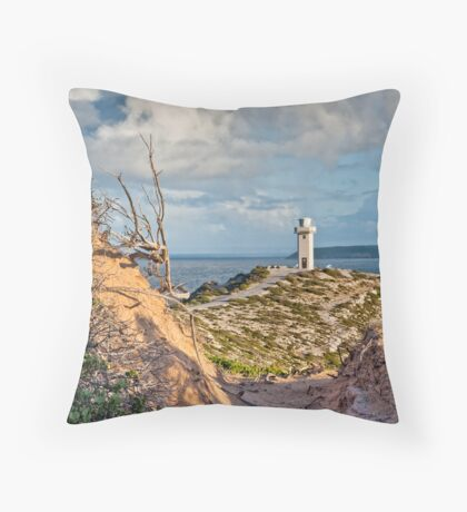 Portrait of Cape Spencer Lighthouse Throw Pillow