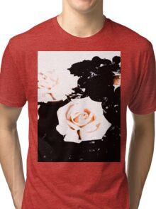 Retro Rose Peach Tri-blend T-Shirt