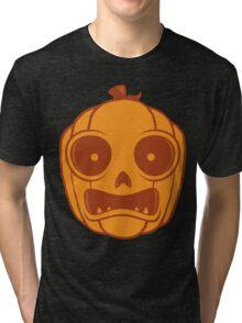 Halloween Jack-O-Lantern Tri-blend T-Shirt