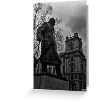 Statue Of Sir Winston Churchill London Greeting Card