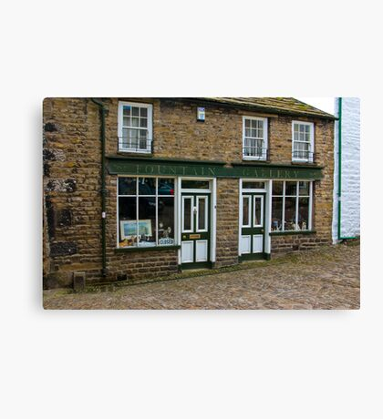 Fountain Gallery  - Dent,Yorks Dales. Canvas Print