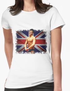 Tom Daley and Union Jack Womens Fitted T-Shirt