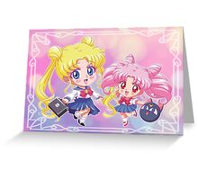 Usagi e Chibiusa Greeting Card