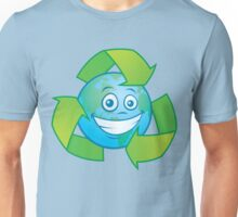 Planet Earth Recycle Cartoon Character Unisex T-Shirt